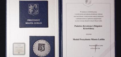Zostaliśmy odznaczeni medalem za zasługi dla miasta Lublin.